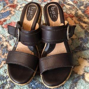 BOC size 7 Brown & cork wedge sandal